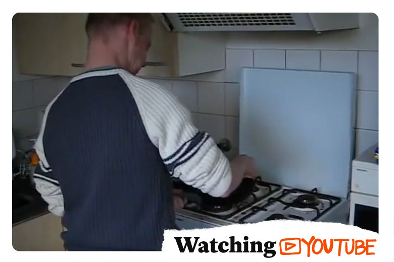 Man cooking in his kitchen.