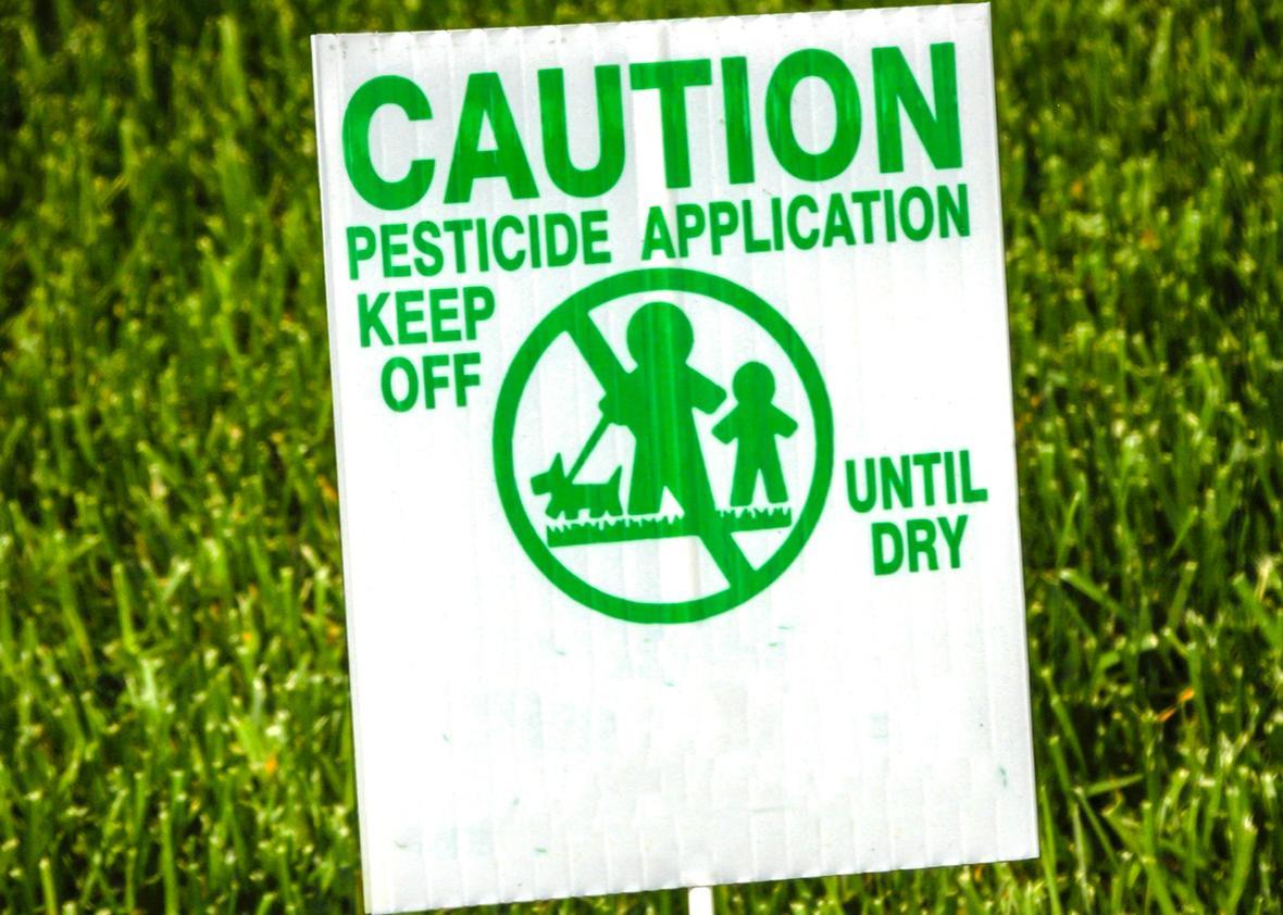 pesticide application.