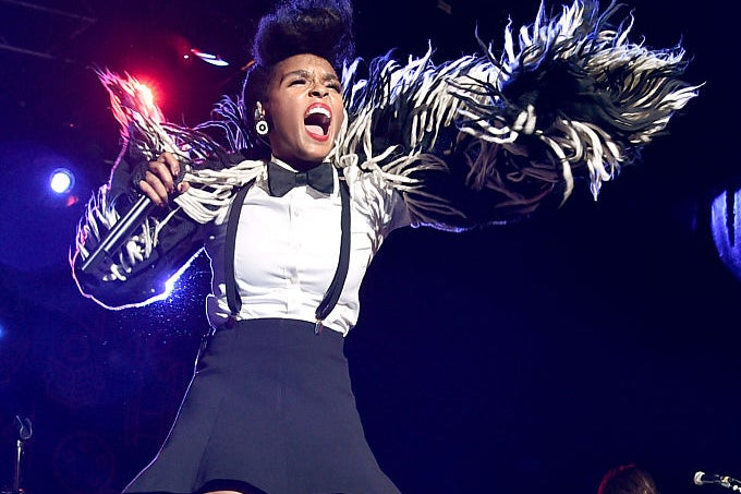 Recording artist Janelle Monae performs onstage at Entertainment Weekly's PopFest at The Reef on October 29, 2016 in Los Angeles, California.