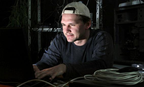Brogrammer on computer.