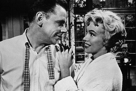 Marilyn Monroe and Tom Ewell.