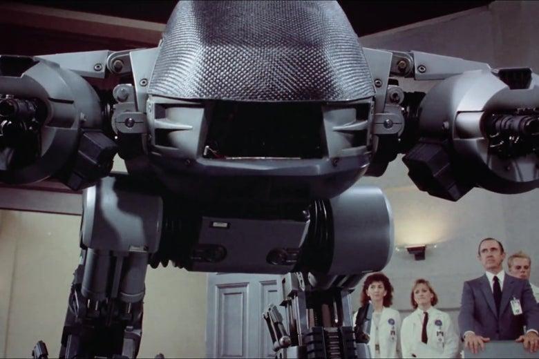 ED-209, a killer robot from the original RoboCop film.