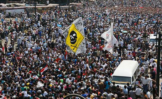Supporters of ousted Egyptian President Mohamed Mursi gather in Cairo August 16, 2013.