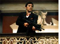 Al Pacino in Scarface. Click image to expand.