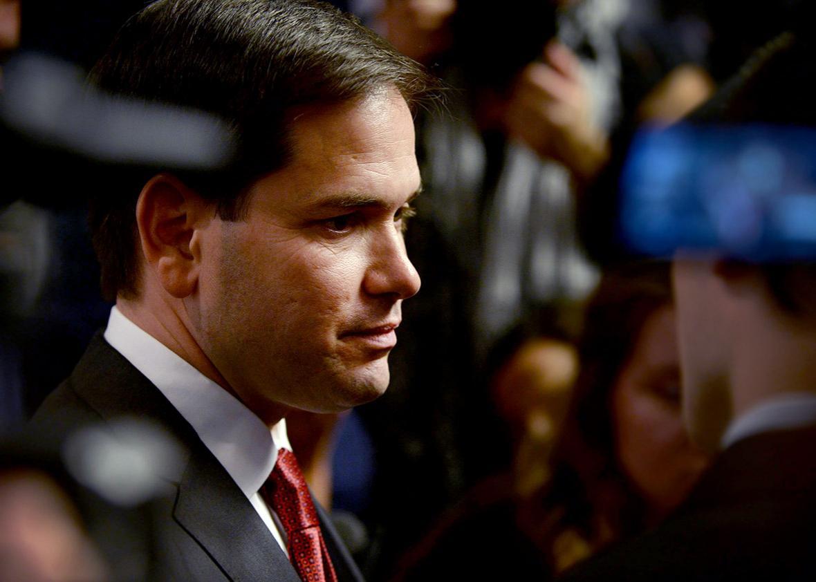 Republican Presidential candidate Marco Rubio.