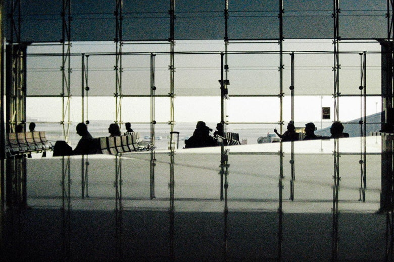 People waiting in El Prat Josep Tarradellas Airport