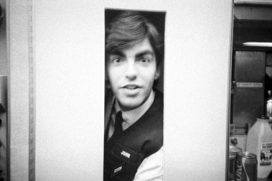 John in the L-1011 Galley Lift (The Flight Attendant Years), c. 1985, printed 2013archival pigment print