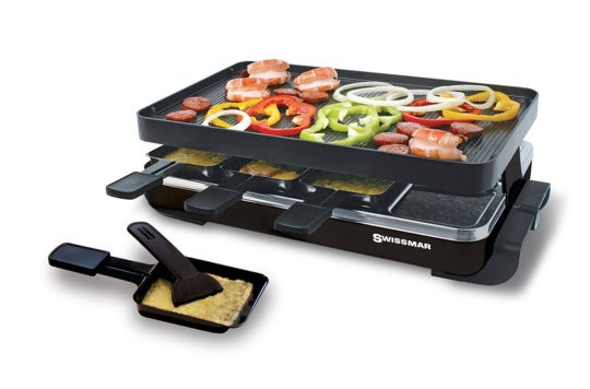 Swissmar raclette with grill plate.