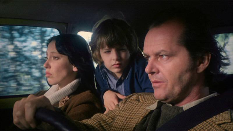 Shelley Duvall, Danny Lloyd, and Jack Nicholson in The Shining.