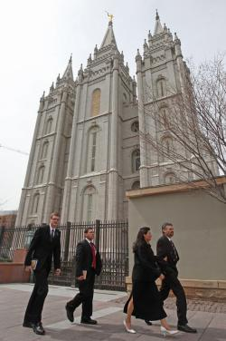 The Historic Salt Lake Mormon Temple.
