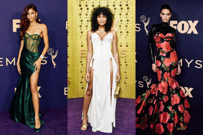 Zendaya, Indya Moore, Kendall Jenner on the Emmys purple carpet.
