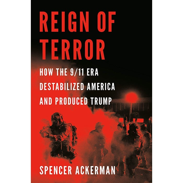 Reign of Terror book cover featuring people in tactical gear wielding guns in a cloud of tear gas