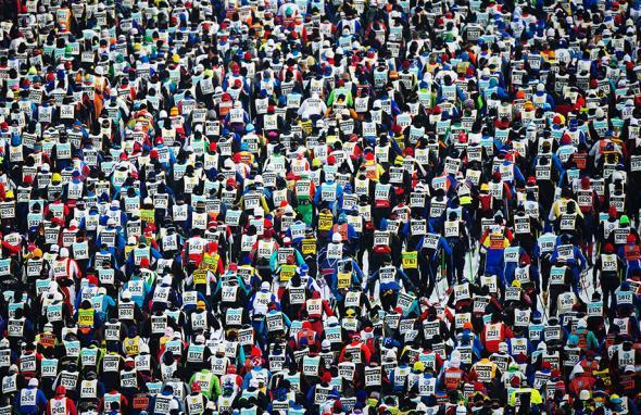 Vasaloppet cross country ski marathon.