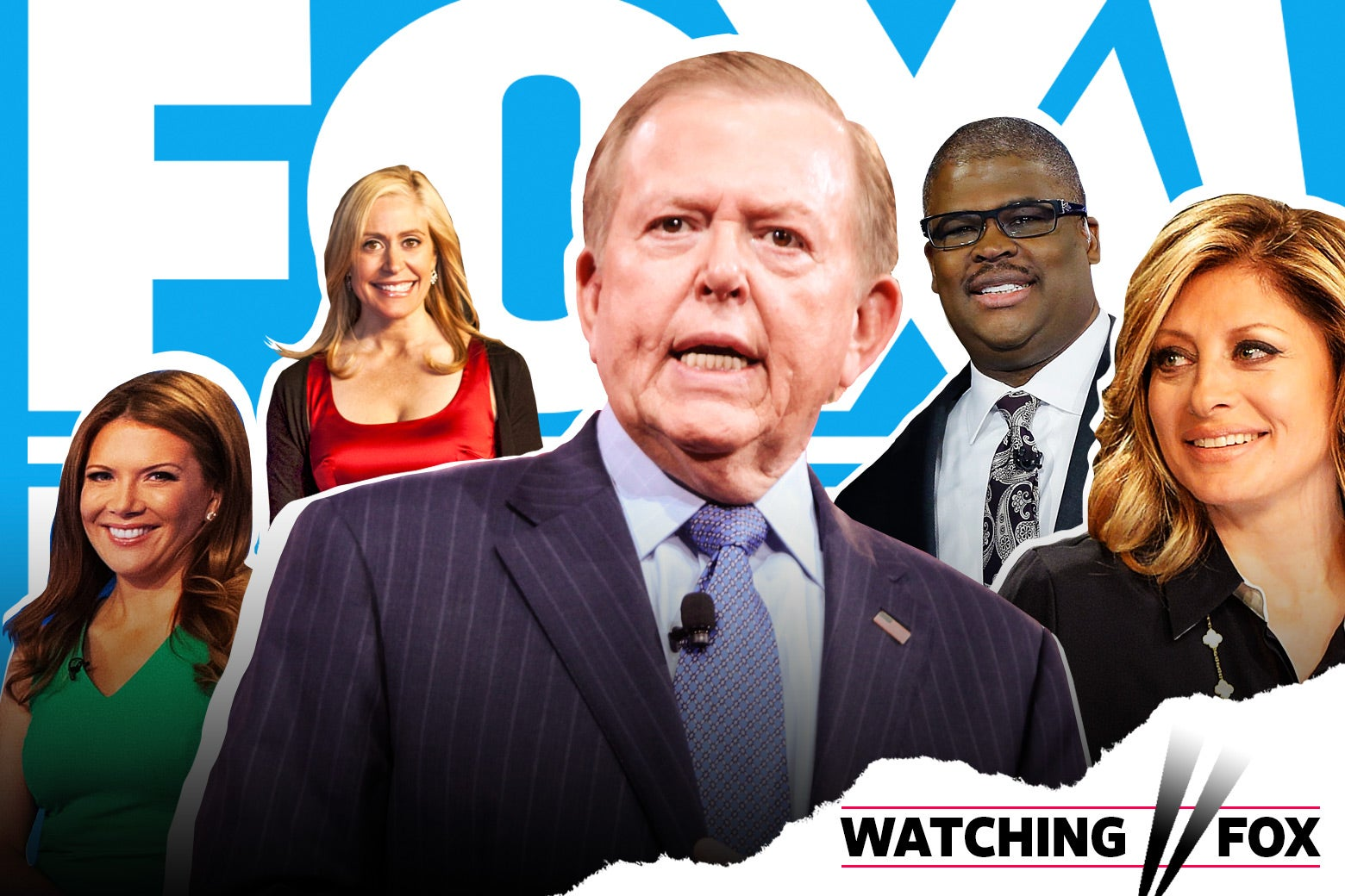 Various Fox Business hosts, like Lou Dobbs and Maria Bartiromo.