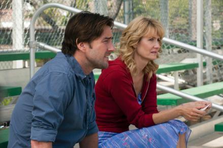 Luke Wilson as Levi Callow and Laura Dern as Amy Jellicoe.