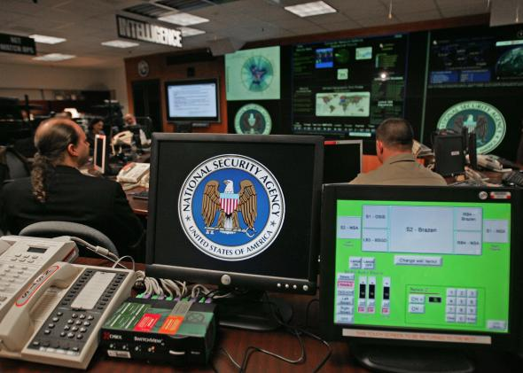NSA agents hard at work tracking down interns' stolen cellphones.