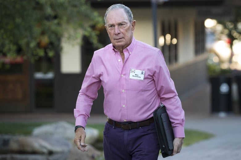 Michael Bloomberg arrives for a morning session of the annual Allen & Company Sun Valley Conference, on July 11, 2018 in Sun Valley, Idaho.