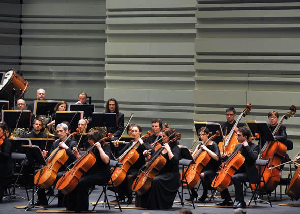 """The """"Divertimento"""" symphonic orchestra from Seine-Saint-Denis department, near Paris, performs at the 20th edition of the music festival """"La Folle journee""""."""