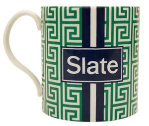 A mug with Slate's logo