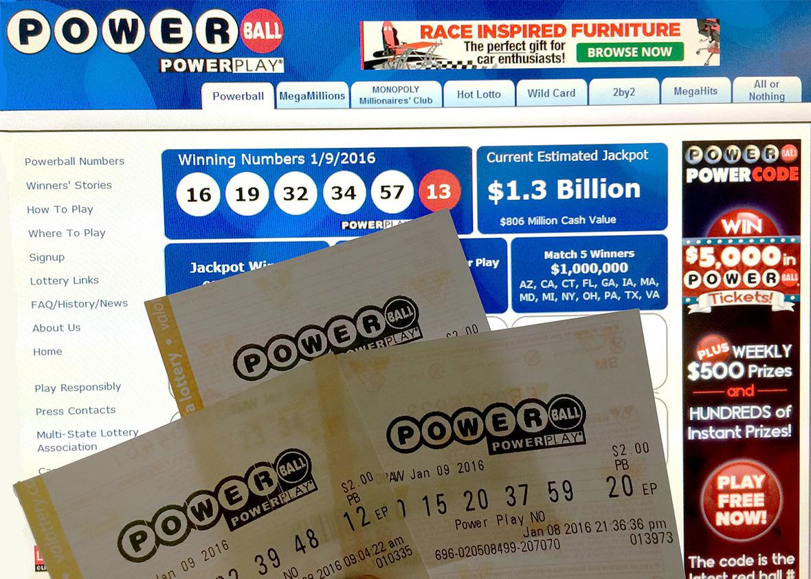 Powerball website and tickets January 2016.
