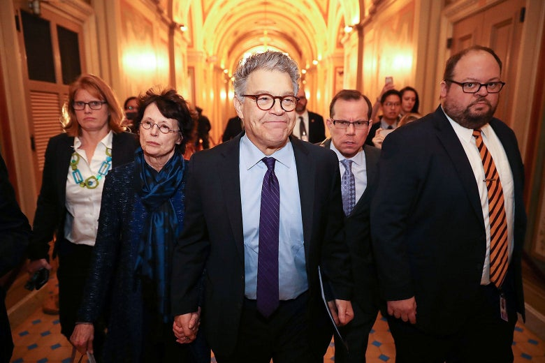 Then-Sen. Al Franken of Minnesota on Dec. 7, 2017, in Washington.