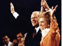 Gerald and Betty Ford at the Republican National Convention in 1976. Click image to expand.