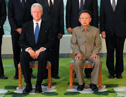 Former President Clinton and North Korean leader Kim Jong-il. Click image to expand.