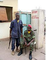 Young rebels at a checkpoint