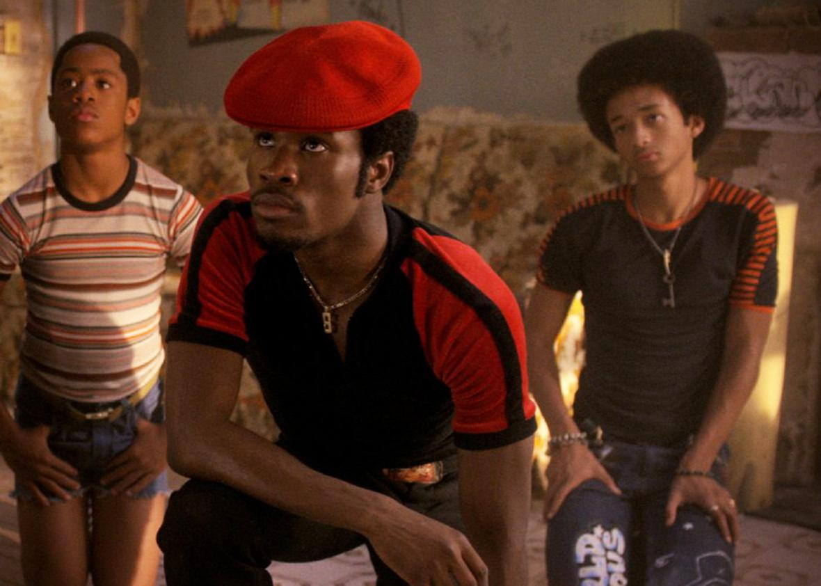 Tremaine Brown Jr., Shameik Moore, and Jaden Smith in The Get Down.