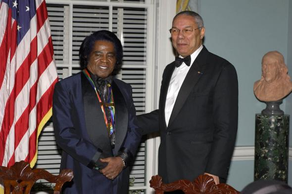 James Brown and Colin Powell
