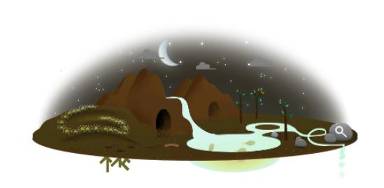Moon phase in the Google Doodle