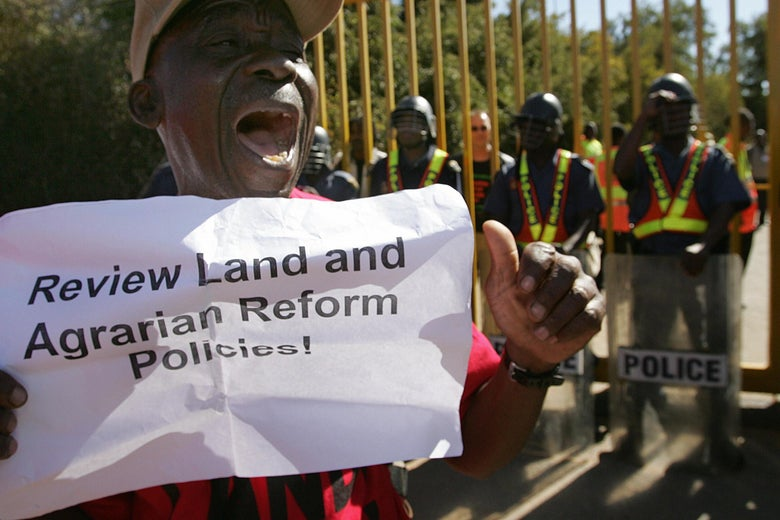 Members of the Landless People's Movement of South Africa.