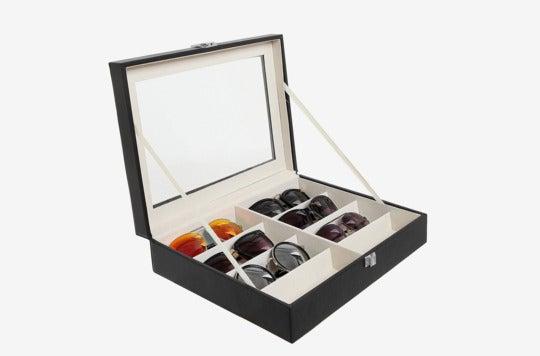 MyGift Deluxe 8 Slot Sunglasses Organizer Box.