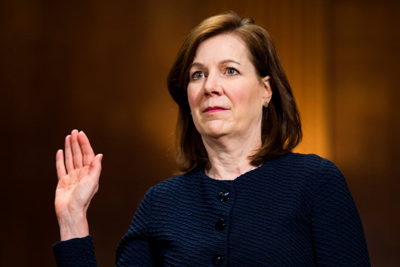 Wendy Vitter is sworn in during her confirmation hearing in the Senate Judiciary Committee to be United States District Judge for the Eastern District of Louisiana on April 11.