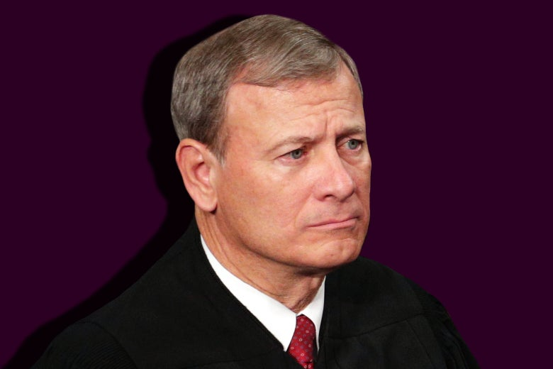 John Roberts in his robes.