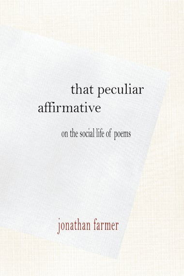 The cover of That Peculiar Affirmative.