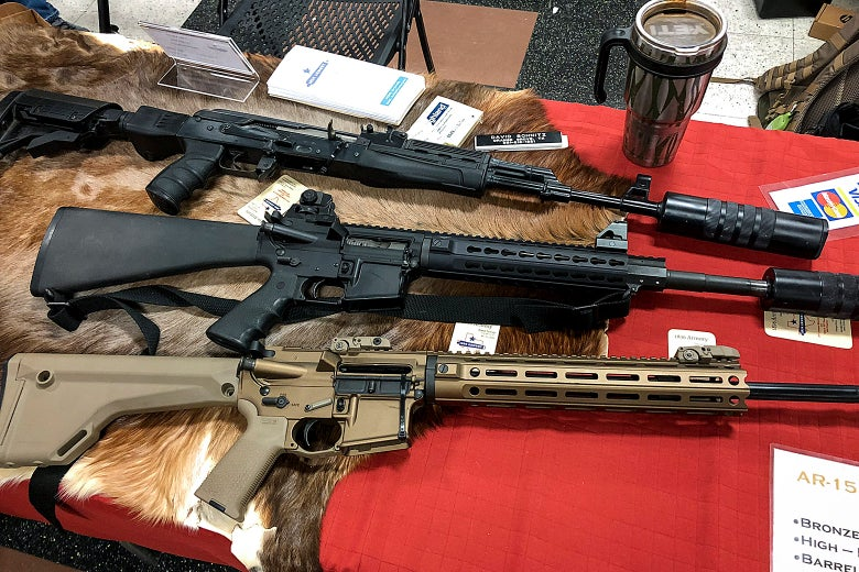 Rifles at a gun show