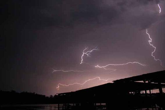 "The ""everlasting lightning storm"" rages for up to 10 hours a night, 260 nights a year."