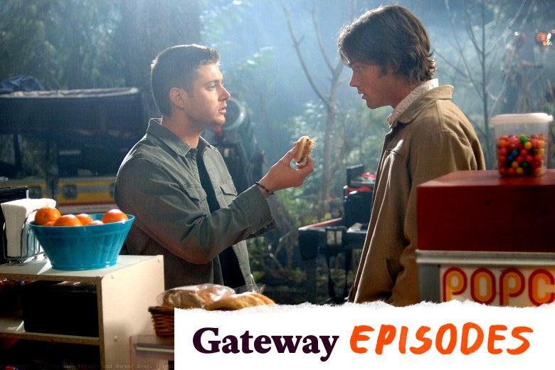 Jensen Ackles and Jared Padalecki in Supernatural.