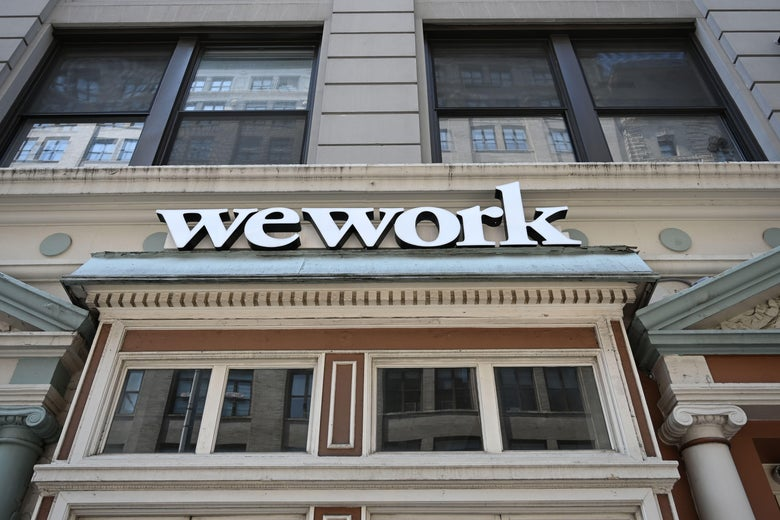 A WeWork office is seen in New York City.