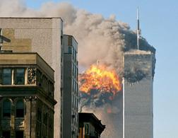World Trade Center on Sept. 11, 2001. Click image to expand.