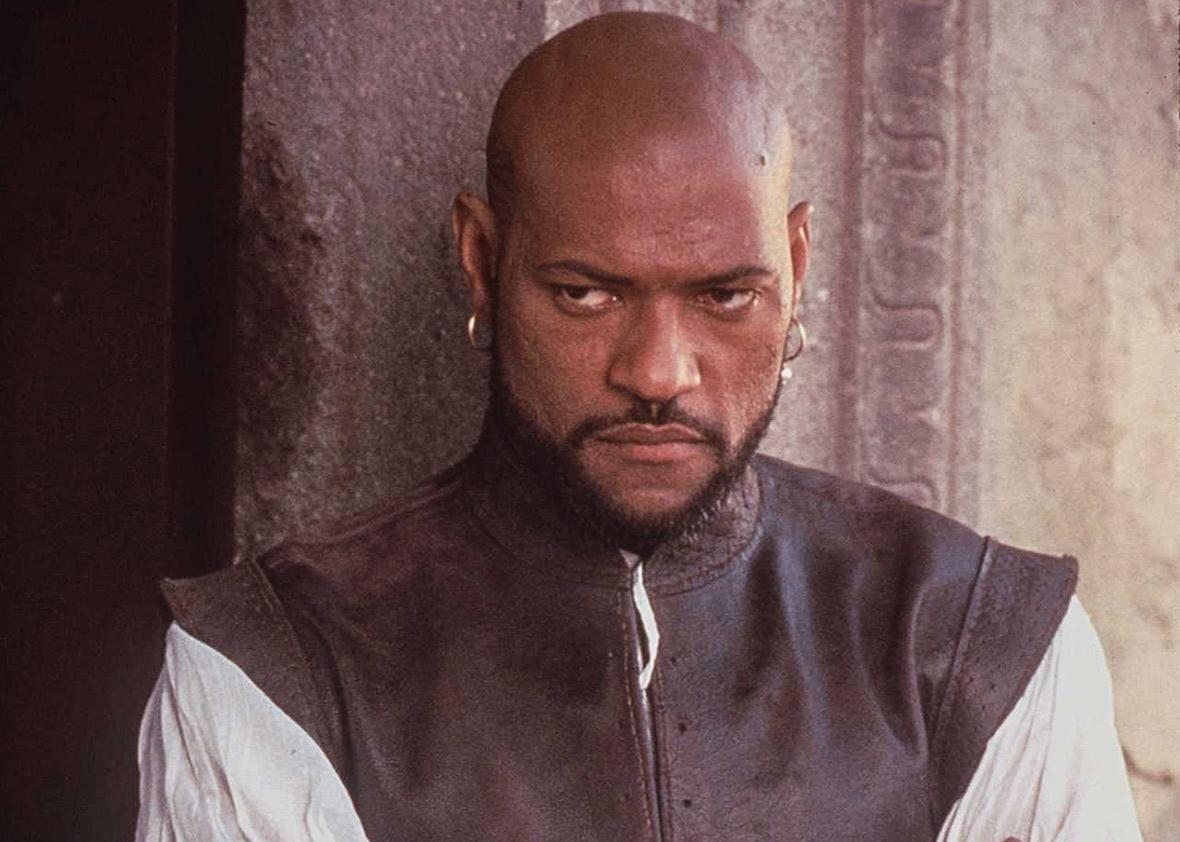 Lawrence Fishburne plays Othello, Dec. 1995.