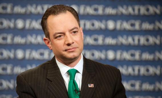 "Republican National Committee Chairman Reince Priebus speaks on CBS's ""Face the Nation"" in Washington on Sunday, March 17, 2013."
