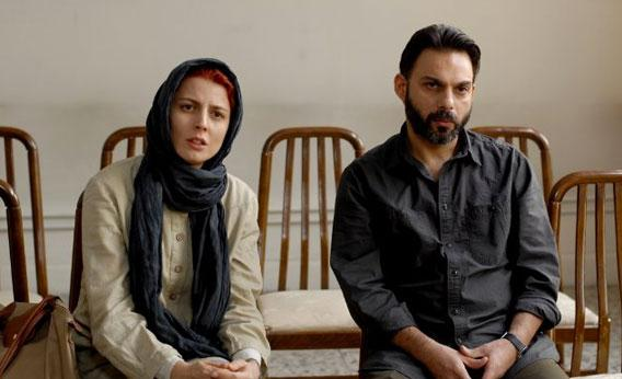 Still of Leila Hatami and Peyman Maadi in A Separation.