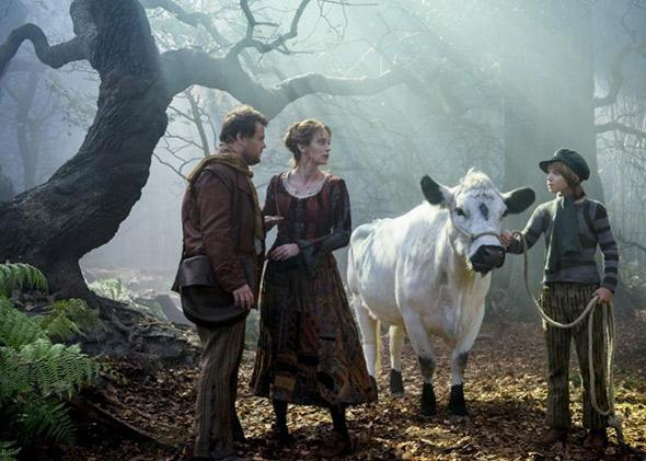 James Corden, Emily Blunt and Daniel Huttlestone in Into the Woods.