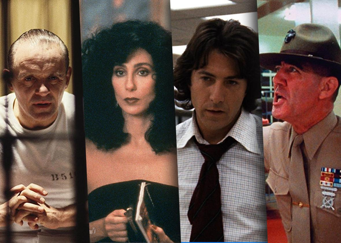 Full Metal Jacket, All the President's Men, Moonstruck and Silence of the Lambs