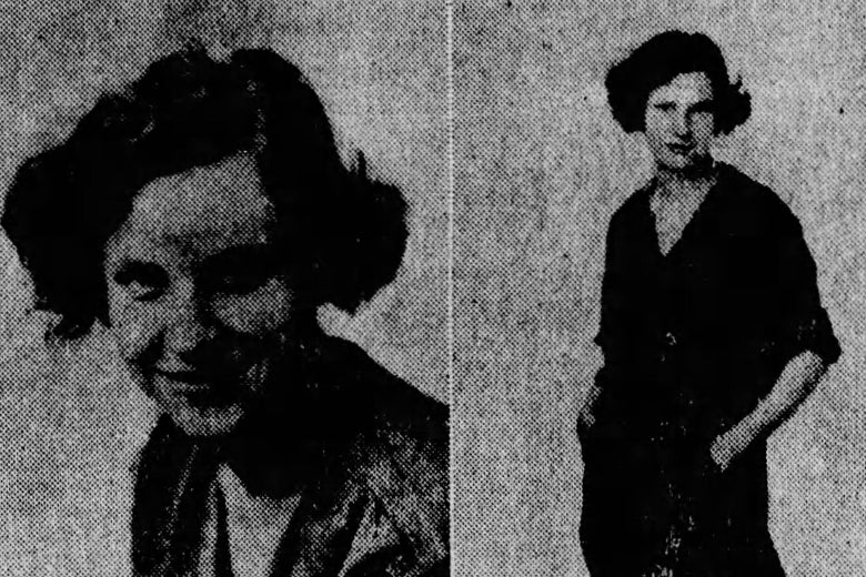 Virginia Stofer, in a headshot and three-quarter photos.