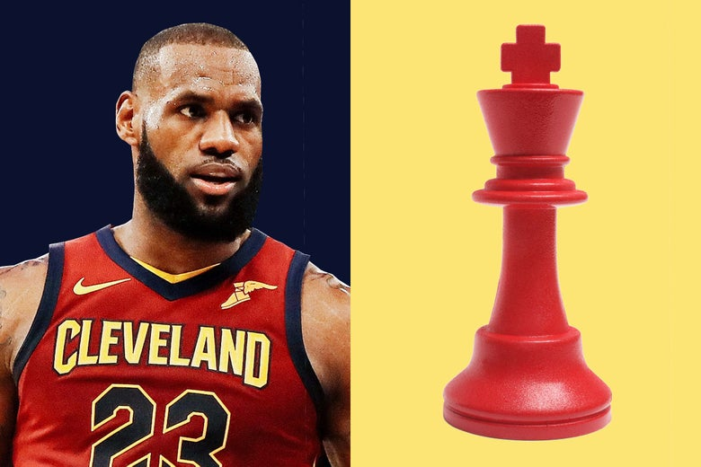 LeBron James, a chess piece.
