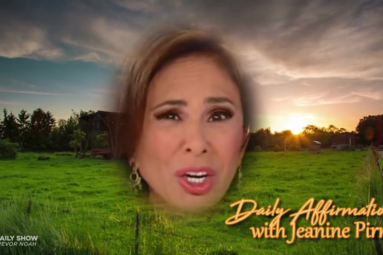 Jeanine Pirro's floating head.