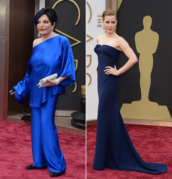 Liza Minelli and Amy Adams at the 86th Academy Awards on March 2nd, 2014 in Hollywood, California.